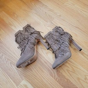 NWT Jean-Michel Cazabat Pepe Suede Fringed Boots